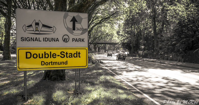 Der Weg zum Signal Iduna Park, Double Stadt Dortmund, BvB, Borussia Dortmund, Autobahn, B1, A40