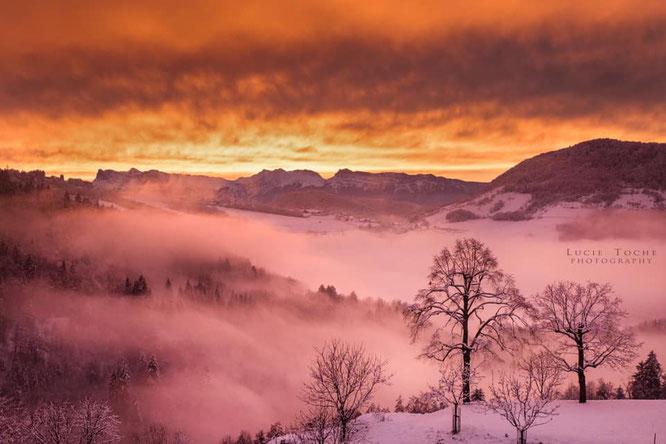 Merci à Lucie Toche pour cette photo prise juste en-dessous de Freydières ! Belledonne présente ces jours ci un vrai festival de couleurs et lumières hivernales !