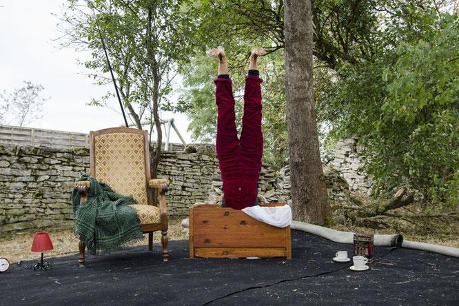 """Heyya.Ana, un solo de cirque à deux voix qui vous sera présenté dimanche 21 juin après midi après 5 journées de travail """"en résidence"""" à la Gélinotte"""". Bienvenue Solène !"""