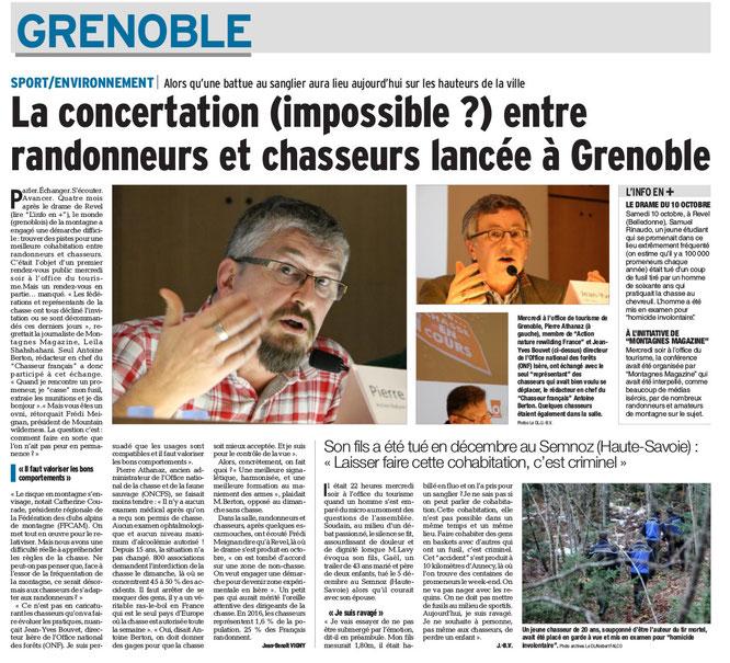 Dans le Dauphiné Libéré du 5 février 2016 (un clic pour agrandir la page)