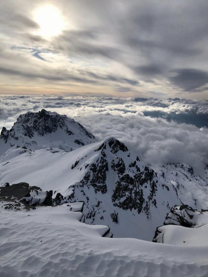 Hier après midi, depuis la Grande Laurière(2740m), et au départ de Freydières. Photo Targal sur Skitour. Merci.