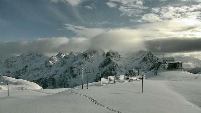 Belledonne ce matin (depuis la webcam de la Croix de Chamrousse)