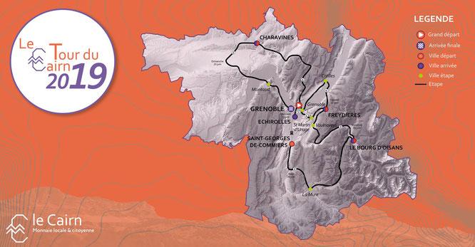 """Le Tour du Cairn à vélo c'est cette semaine. Quand le hameau de Freydières devient """"ville"""" d'arrivée et """"ville"""" départ pour la promotion de notre monnaie locale et citoyenne. Ce sera vendredi 21 juin avant la fête de la musique à la Gélinotte !"""