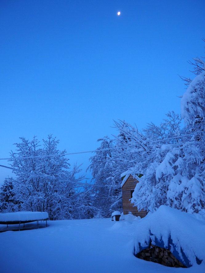 Ambiance hivernale à Freydières !