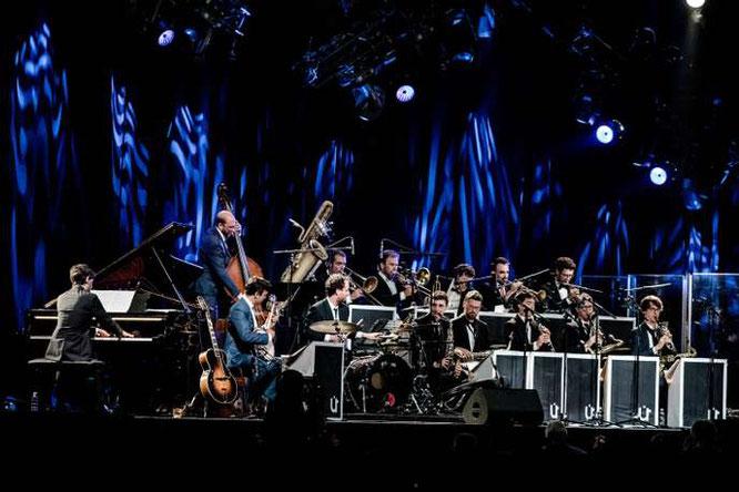 """""""Umlaut Big Band fait danser sur le Jazz des origines"""" Le Monde. En concert ce soir à la Gélinotte !"""
