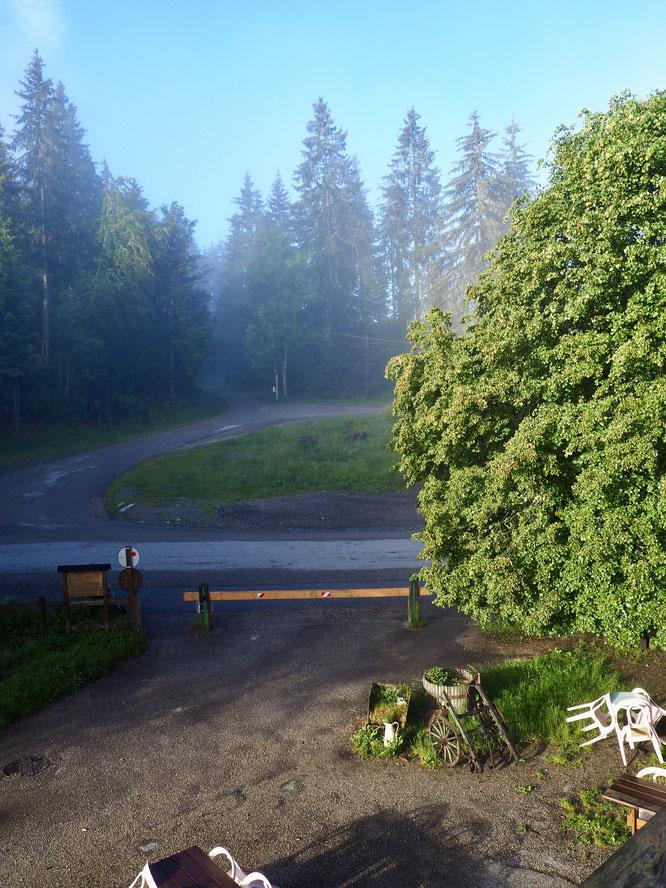 Ce matin Freydières 7h30: après les pluies de la nuit, les nuages s'effacent doucement et... IL arrive. Le soleil devrait rester bien présent dans les jours à venir. Bienvenue en Belledonne !