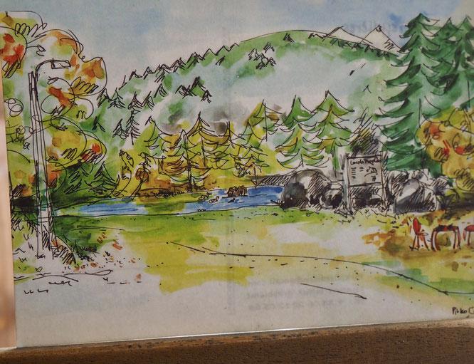 Printemps au Lac de Freydières. Par Pirko Création. Merci. Cartes postales en vente à la Gélinotte.