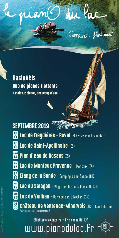 La nouvelle tournée est prête ! Avec 2 pianos flottants pour 2 pianistes incroyables, 8 lieux aquatiques magnifiques pour 12 concerts, 2 hommes grenouilles, 3 caravanes, et beaucoup beaucoup d'envie !