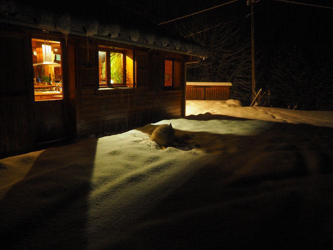 Ce matin vers 7h au réveil dans le petit hameau de Freydières...
