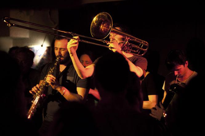 C'était samedi soir à Freydières, au moment du boeuf de musique Klezmer.