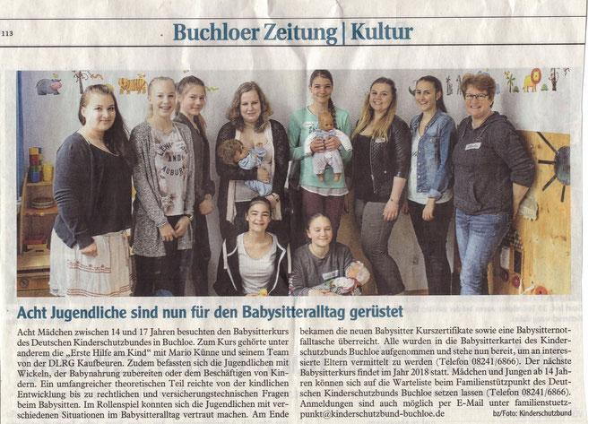 Buchloer Zeitung am 17. Mai 2017