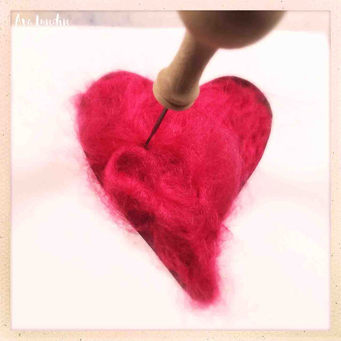 Herz filzen