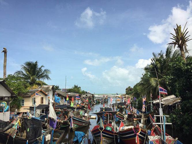 Fischereihafen in Songkhla