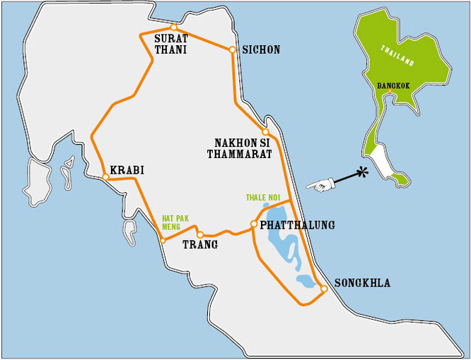Karte zum Thale Noi Loop