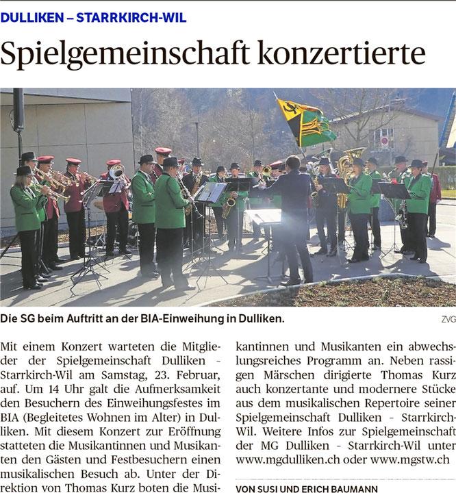 Oltner Tagblatt, 26.2.2019, S. 22