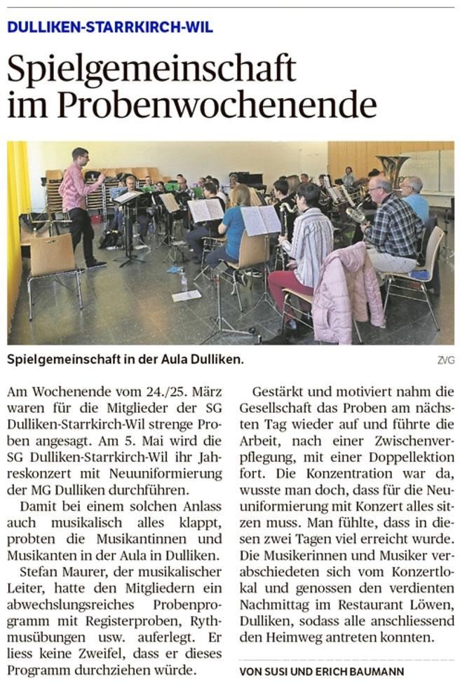 Oltner Tagblatt, 9.4.2018, S. 22