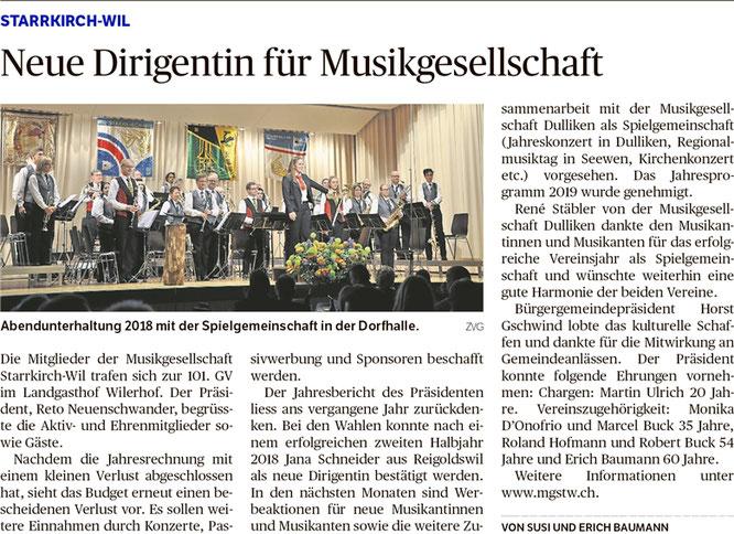 Oltner Tagblatt, 8.2.2019, S. 24