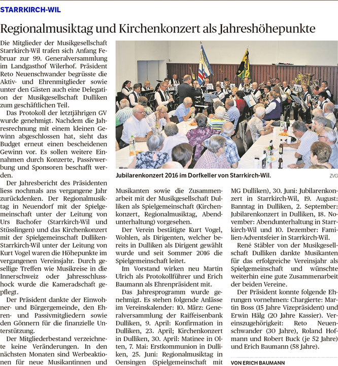 Oltner Tagblatt, 15.2.2017