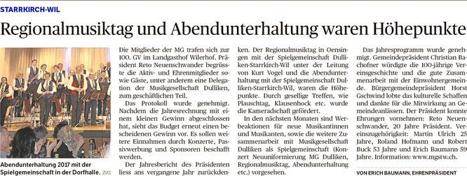 Oltner Tagblatt, 9.2.2018, S. 26