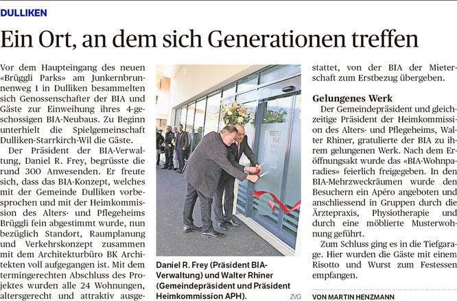 Oltner Tagblatt, 1.3.2019, S. 28