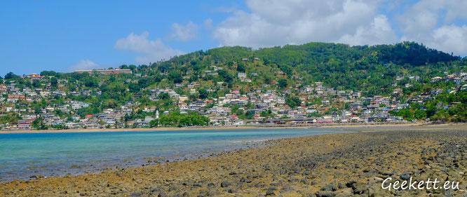 Vue de Sada depuis l'îlot