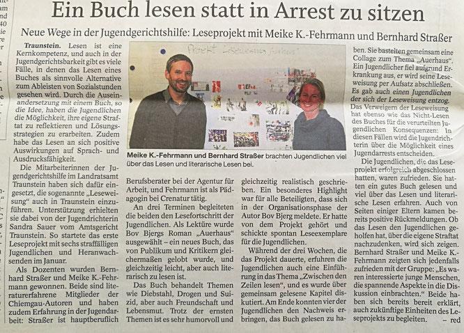 Pressetext zur Leseweisung Traunstein - Auerhaus