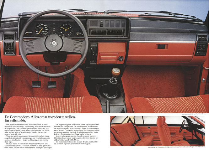 Opel Commodore C Prospekt August 1980 Niederlande