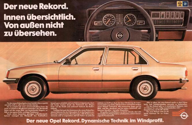 Werbung Opel Rekord E 22/1977