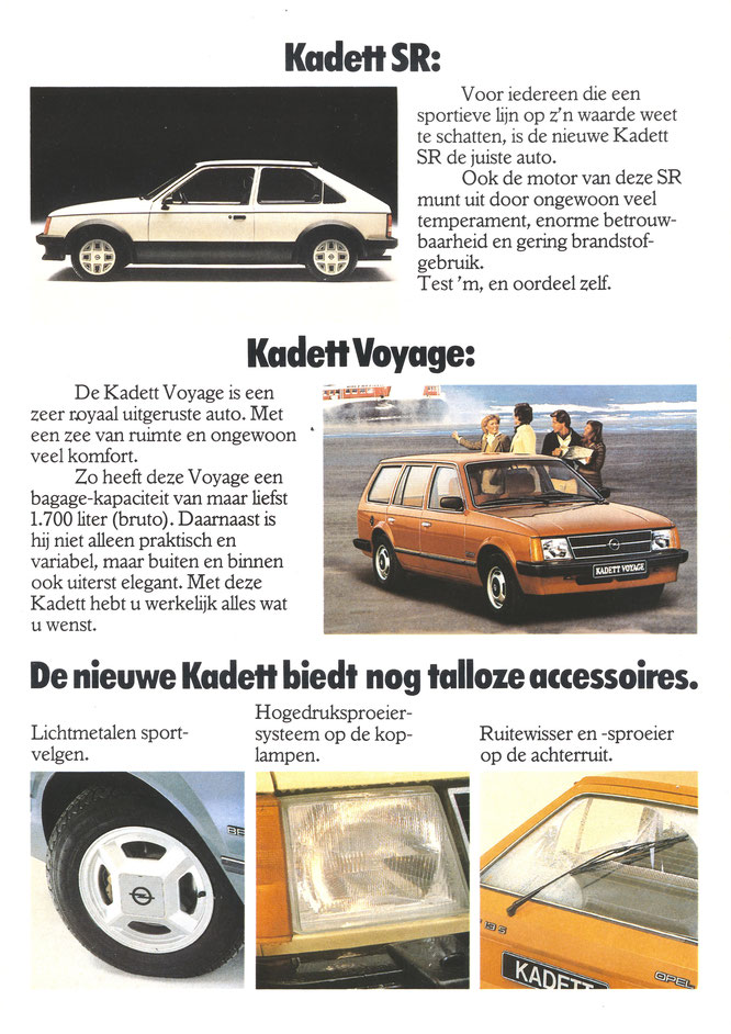 Kadett SR Kadett Voyage