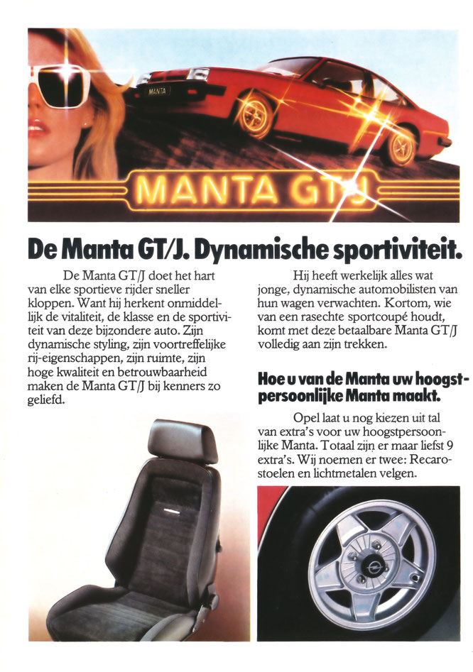 Opel Manta GT/J