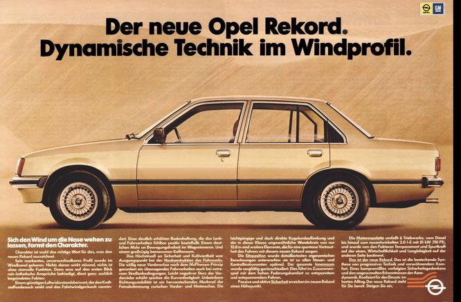 Werbung Opel Rekord E 20/1977