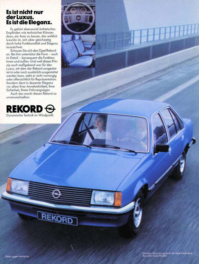 Werbung Opel Rekord E 19/1978