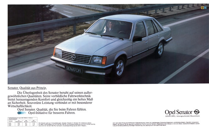 Opel Senator A1 Werbung 1981