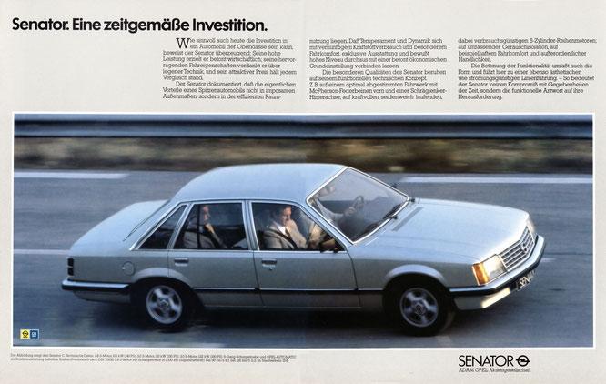 Opel Senator A1 Werbung GEO 1980