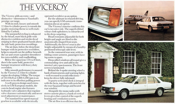 Prospekt Vauxhall Carlton Viceroy Royal