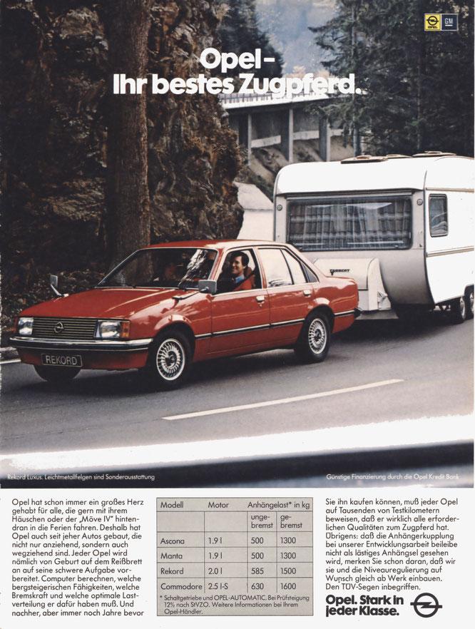 Werbung Opel Rekord E 10/1979