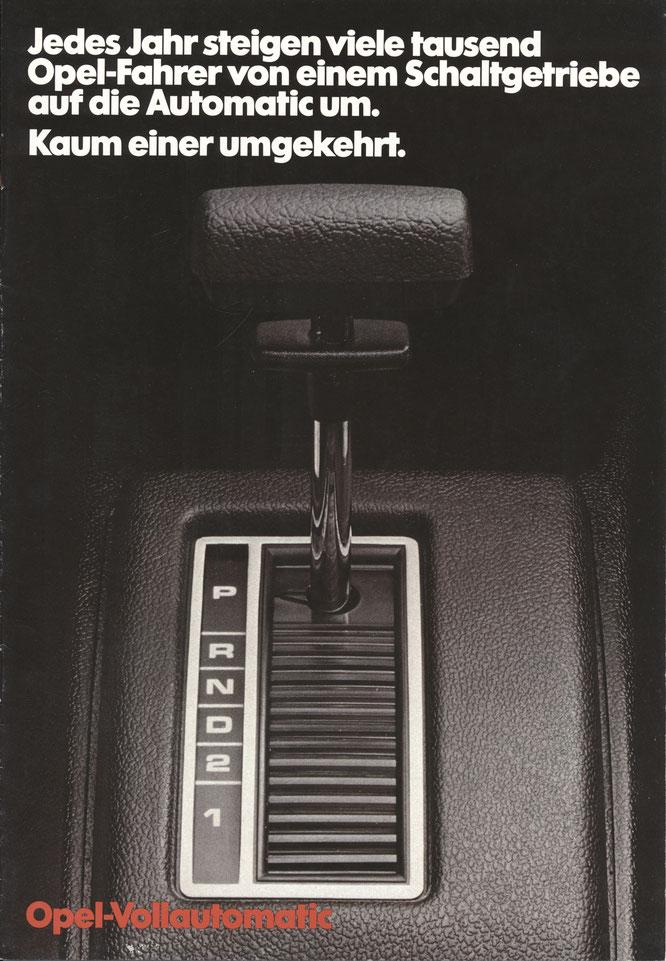 Opel Vollautomatic 11/1977 - Wissenswertes über den Opel Commodore C