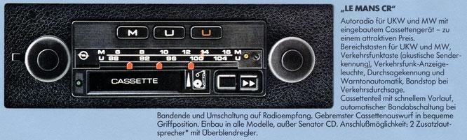 Opel Autoradio Le Mans CR