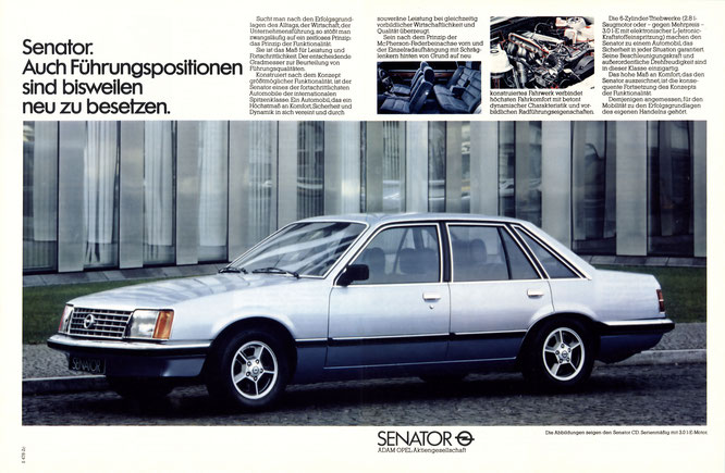 Opel Senator A1 Werbung DER SPIEGEL 27/1978