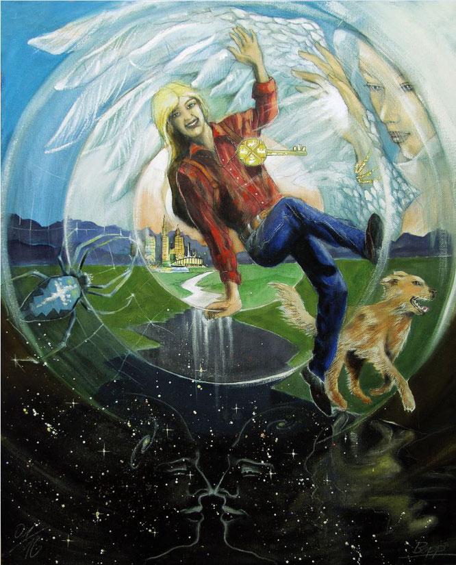 Der Narr, Sakis-Tarot, Leinwandbild, Kunstdruck, Poster, gemalt