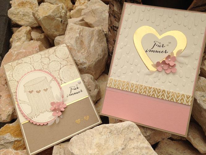 Hochzeitskarten Rose Gold Kreativestempeleckes Webseite