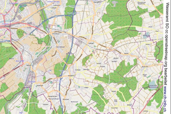 Karte Wasseramt Solothurn