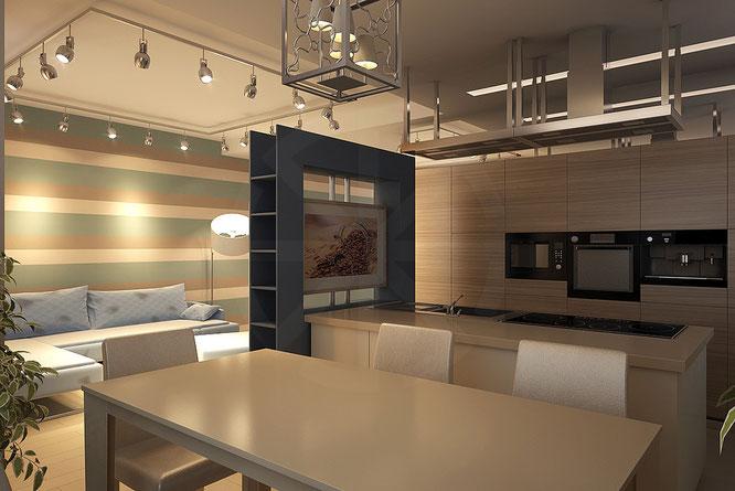 """дизайн кухня гостиная  """" дизайн интерьера """""""