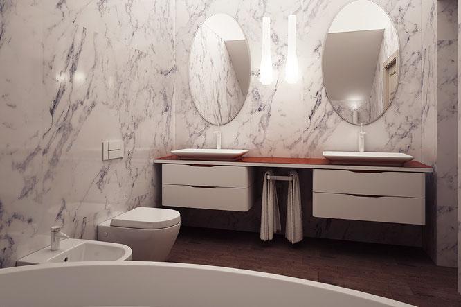"""ванная в загородном доме  """" дизайн интерьера """""""