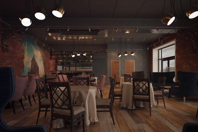 дизайн кафе ресторана тула