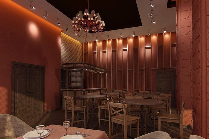 """современный ресторан  """" дизайн интерьера """""""