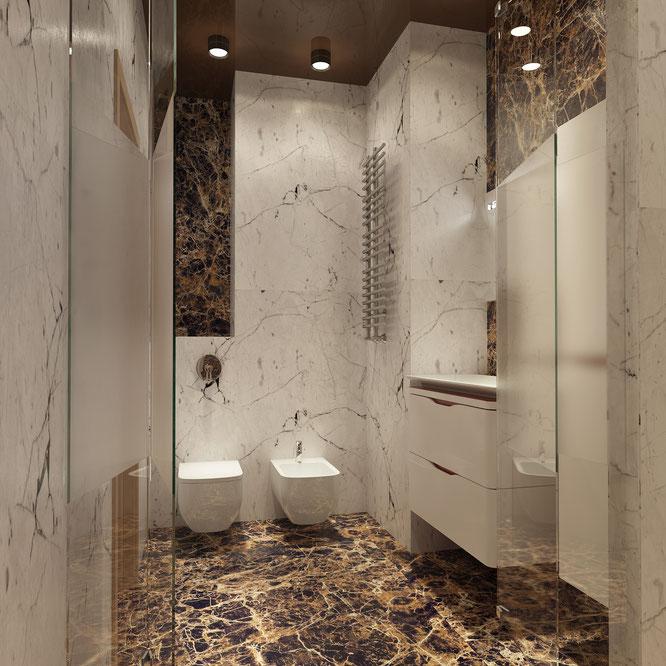 дизайн ванной комнаты современный стиль