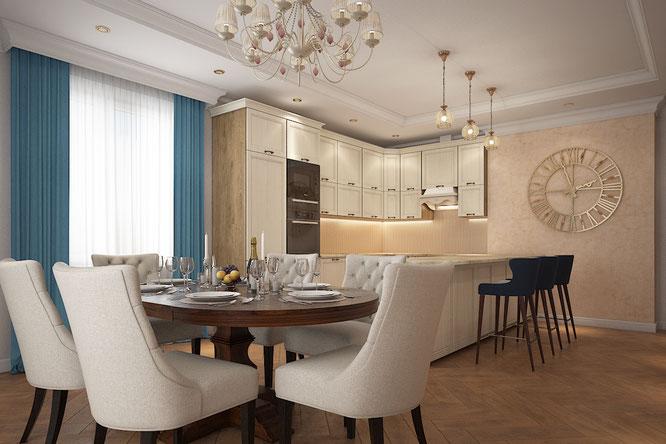 дизайн кухни загородный дом новоглагольево