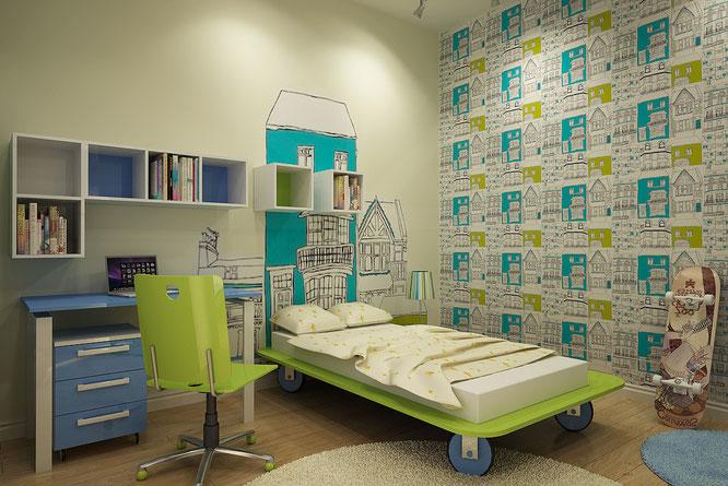 """"""" дизайн интерьера """" дизайн детской комнаты для мальчика"""