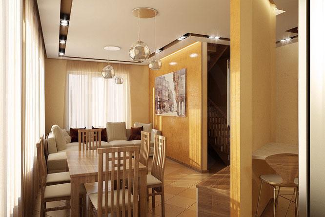 """дизайн интерьера зала-кухни  в современном стиле   """" дизайн интерьера """""""